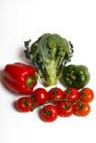 Paprica、硬花甘蓝和蕃茄 库存图片
