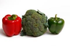 Paprica, broccoli e pomodori Fotografia Stock