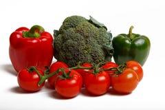 Paprica, broccoli e pomodori Fotografie Stock