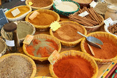 Paprica, curcuma and other aromatic spices Stock Image