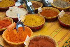 Paprica, curcuma and other spices Stock Photo