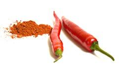 Paprica del peperoncino rosso Fotografia Stock Libera da Diritti