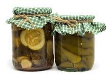 Paprica e cetriolo marinati Fotografia Stock