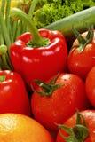 Paprica e pomodori Immagini Stock Libere da Diritti