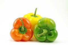 Paprica giallo e rosso verde immagini stock