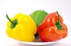 Paprica giallo e rosso verde Fotografia Stock Libera da Diritti