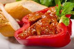 Paprica piena (con carne) Fotografia Stock