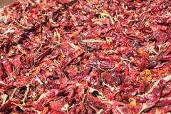Paprica rossa che cresce a Betlemme della Galilea Fotografia Stock