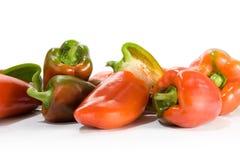 Paprica rosso e verde fotografie stock libere da diritti