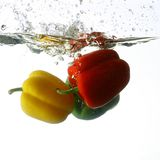 Paprica splash Stock Image
