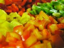 Paprika 1 mit vier Farben stockbilder