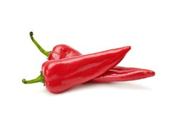 Paprika. Isolated on a white stock photography