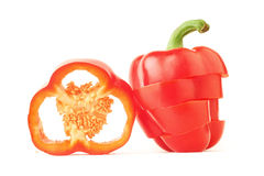 Red bell pepper slice Stock Photo