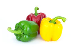 Paprika. Red, yellow, green Stock Photography