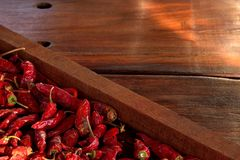 Paprika-Abflussrinne Stockfotos