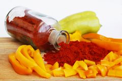 Paprika in all stages Royalty Free Stock Images