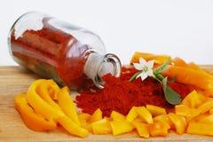 Paprika in allen Stufen Stockfoto