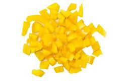 Paprika amarillo tajado imágenes de archivo libres de regalías