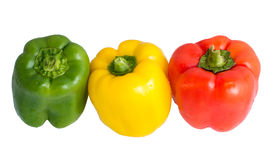 Paprika auf Weiß stockfotos