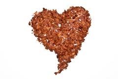Paprika blättert Herz ab Lizenzfreies Stockbild