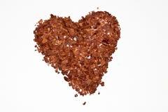 Paprika blättert Herz ab Lizenzfreie Stockfotografie