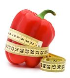 Paprika with centimeter. Isolated over white background Royalty Free Stock Photo
