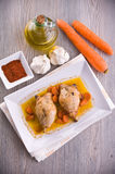 Paprika Chicken Drumsticks. fotografia de stock royalty free