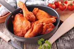 Paprika chicken in pan Stock Photo