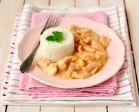 Paprika Chicken Stroganoff Royalty Free Stock Image