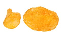 Paprika chips isolated Stock Images
