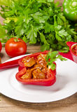 Paprika completa (com carne) Imagem de Stock Royalty Free