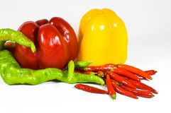 Paprika composition. Royalty Free Stock Image