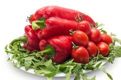 Paprika con los tomates Imagen de archivo