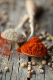 Paprika and coriander Royalty Free Stock Photo