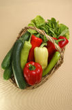 paprika and cucumber in a basket Royalty Free Stock Image