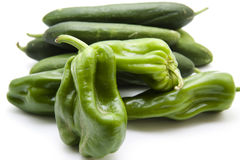Paprika with cucumbers Royalty Free Stock Images