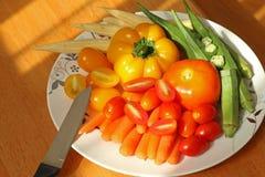 Paprika d'amd de tomate Image stock