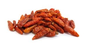 A paprika das pimentas de pimentão secou imagens de stock