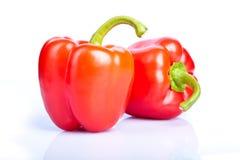 Paprika de dois vermelhos Fotografia de Stock