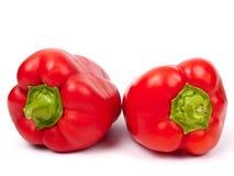 Paprika de dos rojos Fotos de archivo libres de regalías
