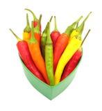 Paprika de las pimientas de chile Fotografía de archivo libre de regalías