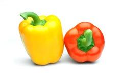 Paprika del color aislada Foto de archivo libre de regalías