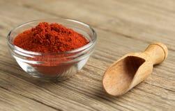 Paprika del rojo de la especia Foto de archivo libre de regalías