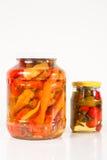 Paprika in den Gläsern Lizenzfreies Stockfoto