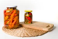 Paprika in den Gläsern Lizenzfreies Stockbild