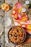 Paprika der schwarzen Bohnen, der Quinoa und des Mais Stockbilder