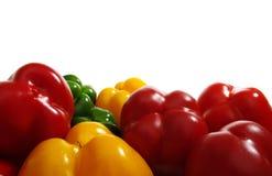 Paprika drei Farben Stockfotografie