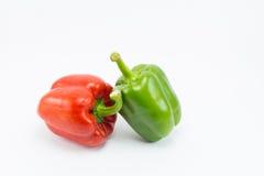 Paprika dulce en el fondo blanco Imagenes de archivo