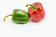 Paprika dulce en el fondo blanco Imagen de archivo libre de regalías