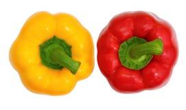 Paprika dulce superior de la visión, rojo y amarillo fotografía de archivo libre de regalías